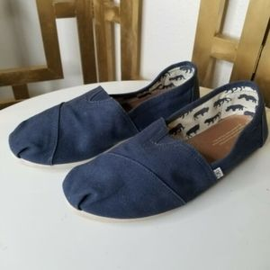 Toms Women Slip on Navy Blue Sneaker Shoe 11